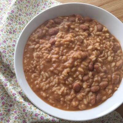 minestra di riso e fagioli cremosa