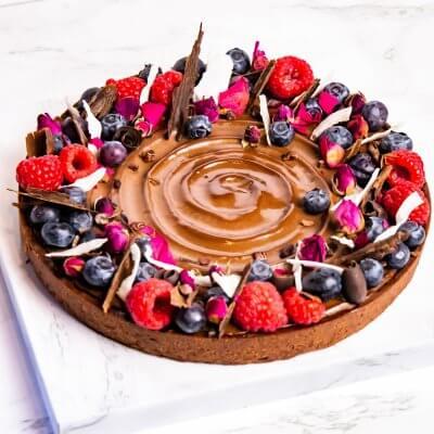 crostata al cioccolato ioscelgoveg