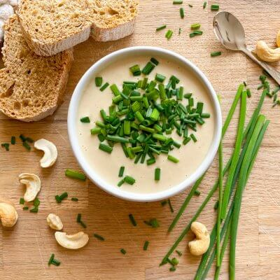 formaggio vegan spalmabile di anacardi