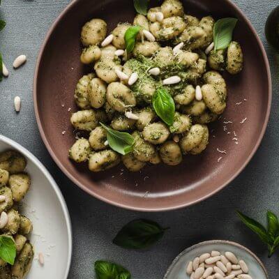 gnocchi di patate vegan al pesto di basilico