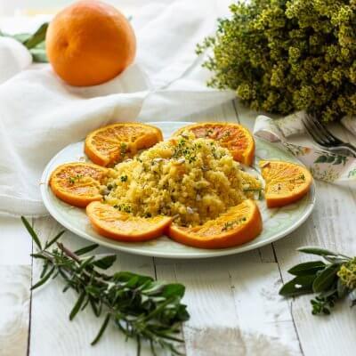 cous cous all'arancia vegan
