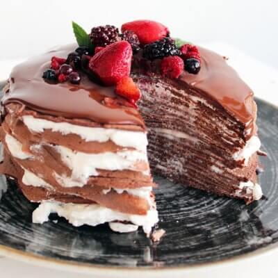 torta di crêpes