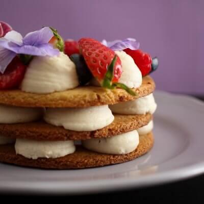 vegan cream tart