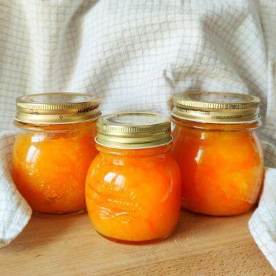 marmellata di arance con fili di scorzette